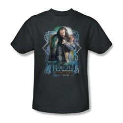 The Hobbit - Mens Thorin Oakenshield T-Shirt In Charcoal