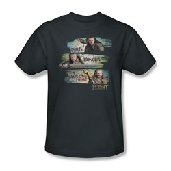 The Hobbit - Mens Loyalty And Honour T-Shirt In Charcoal
