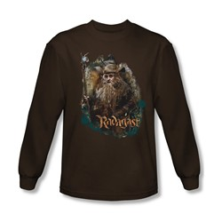 The Hobbit - Mens Radagast The Brown Long Sleeve Shirt In Coffee