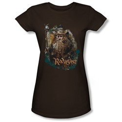 The Hobbit - Womens Radagast The Brown T-Shirt In Coffee