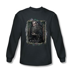 The Hobbit - Mens Gandalf Long Sleeve Shirt In Charcoal