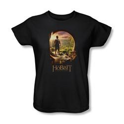 The Hobbit - Womens Hobbit In Door T-Shirt In Black