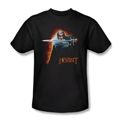 The Hobbit - Mens Secret Fire T-Shirt In Black