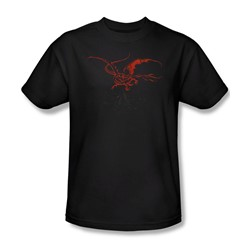 The Hobbit - Mens Smaug T-Shirt In Black