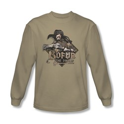 The Hobbit - Mens Bofur Long Sleeve Shirt In Sand
