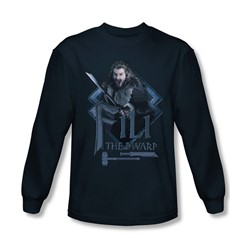 The Hobbit - Mens Fili Long Sleeve Shirt In Navy