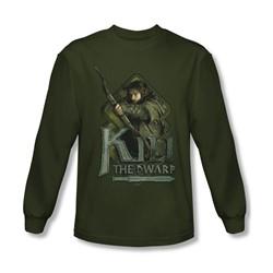 The Hobbit - Mens Kili Long Sleeve Shirt In Military Green