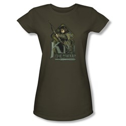 The Hobbit - Womens Kili T-Shirt In Military Green