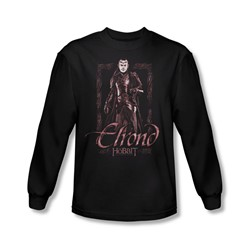 The Hobbit - Mens Elrond Stare Long Sleeve Shirt In Black