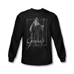 The Hobbit - Mens Gandalf Stare Long Sleeve Shirt In Black