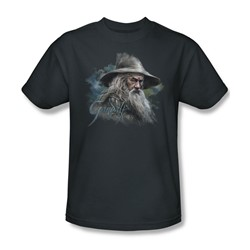 The Hobbit - Mens Gandalf The Grey T-Shirt In Charcoal