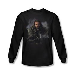The Hobbit - Mens Thorin Oakenshield Long Sleeve Shirt In Black