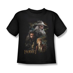 The Hobbit - Little Boys Painting T-Shirt In Black