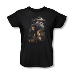 The Hobbit - Womens Painting T-Shirt In Black
