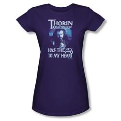 The Hobbit - Womens Thorins Key T-Shirt In Purple