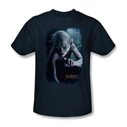 The Hobbit - Mens Gollum Poster T-Shirt In Navy