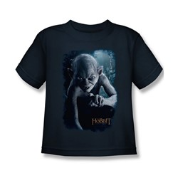 The Hobbit - Little Boys Gollum Poster T-Shirt In Navy