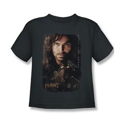 The Hobbit - Little Boys Kili Poster T-Shirt In Charcoal