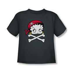 Betty Boop - Toddler Pirate T-Shirt In Charcoal