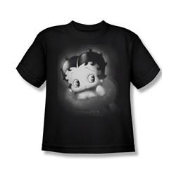 Betty Boop - Big Boys Vintage Star T-Shirt In Black