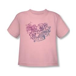 Popeye - Toddler Olive Oyl Tattoo T-Shirt In Pink