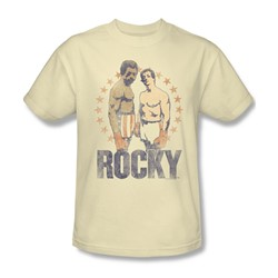 Rocky - Mens Creed & Balboa T-Shirt In Cream