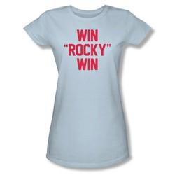 Rocky - Womens Win Rocky Win T-Shirt In Light Blue