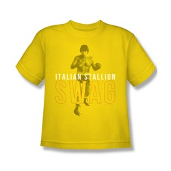 Mgm - Big Boys Rocky T-Shirt In Yellow