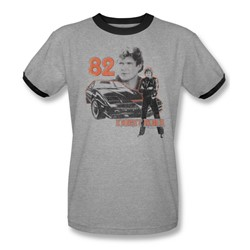 Knight Rider - Mens 1982 Ringer T-Shirt In Heather/Black