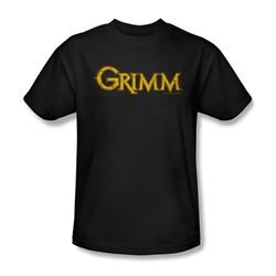 Grimm - Mens Gold Logo T-Shirt In Black