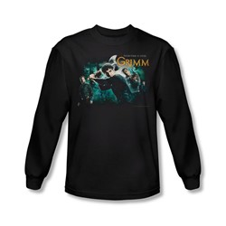 Grimm - Mens Storytime Is Over Long Sleeve Shirt In Black