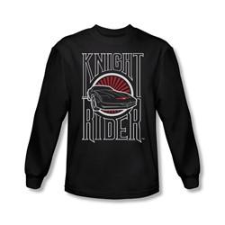 Knight Rider - Mens Logo Long Sleeve Shirt In Black