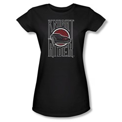 Knight Rider - Womens Logo T-Shirt In Black
