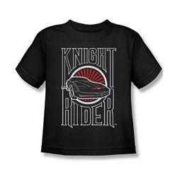 Knight Rider - Little Boys Logo T-Shirt In Black