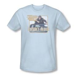 Knight Rider - Mens Back Seat T-Shirt In Light Blue