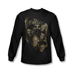 Grimm - Mens Wesen Long Sleeve Shirt In Black
