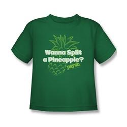 Psych - Little Boys Pineapple Split T-Shirt In Kelly Green