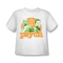 Psych - Little Boys Predictable T-Shirt In White