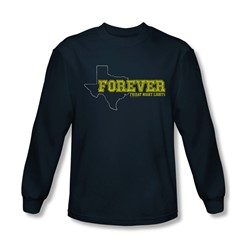 Friday Night Lights - Mens Texas Forever Long Sleeve Shirt In Navy