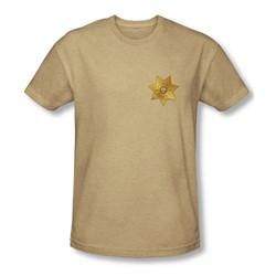 Eureka - Mens Badge T-Shirt In Sand
