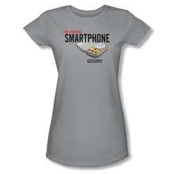 Warehouse 13 - Womens Original Smartphone T-Shirt In Silver