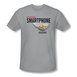 Warehouse 13 - Mens Original Smartphone T-Shirt In Silver