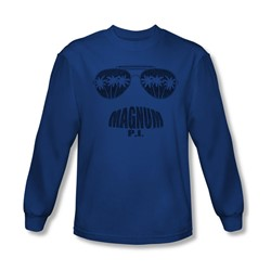 Magnum P.I. - Mens Face It Long Sleeve Shirt In Royal