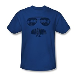 Magnum P.I. - Mens Face It T-Shirt In Royal