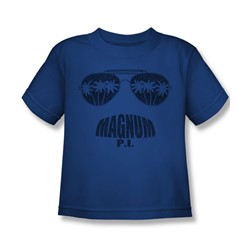 Magnum P.I. - Little Boys Face It T-Shirt In Royal