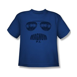 Magnum P.I. - Big Boys Face It T-Shirt In Royal