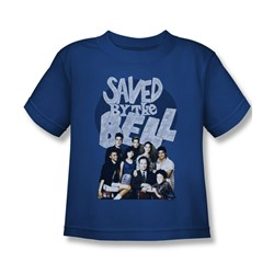 Saved By The Bell - Little Boys Retro Cast T-Shirt In Royal