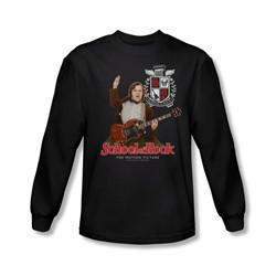 School Of Rock - Mens The Teacher Is In Long Sleeve Shirt In Black