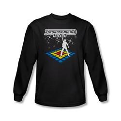 Saturday Night Fever - Mens Should Be Dancing Long Sleeve Shirt In Black