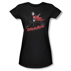 School Of Rock - Womens Rockin T-Shirt In Black
